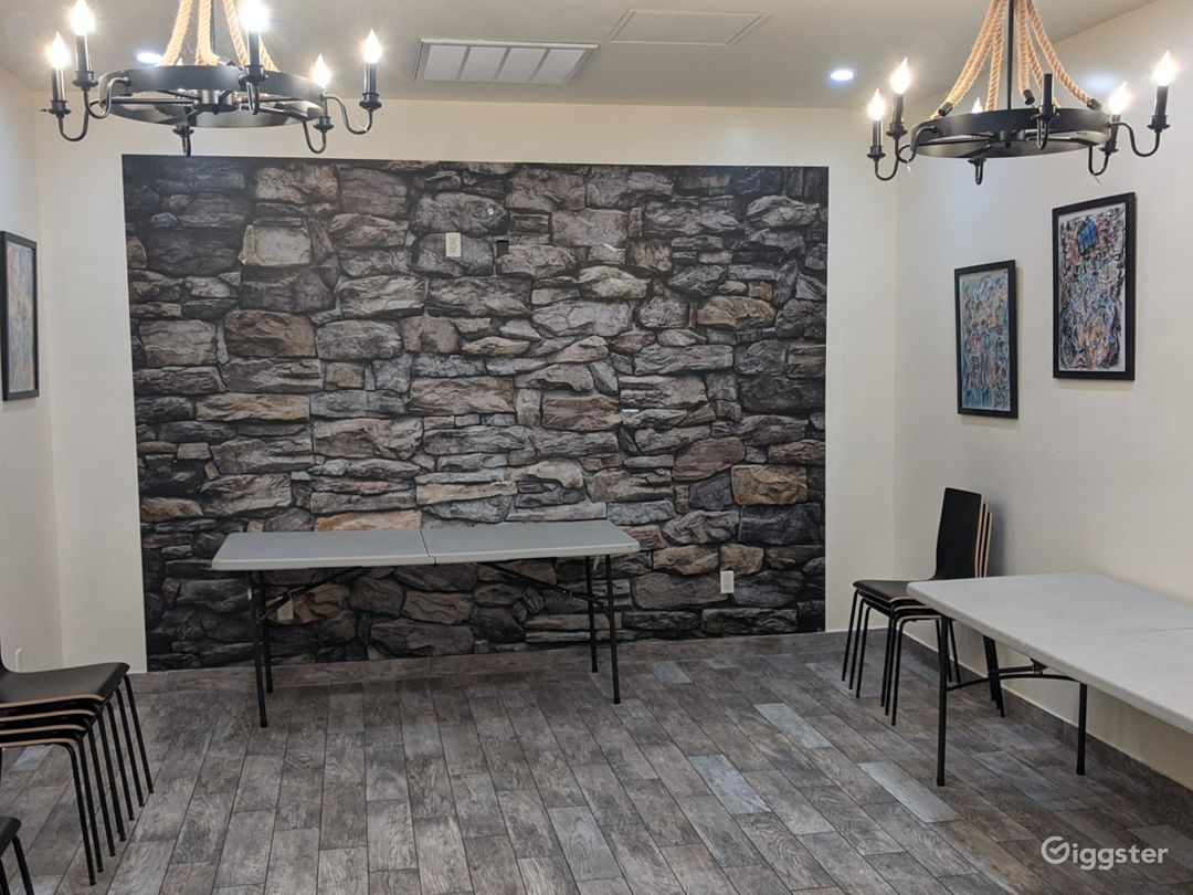 Rustic Party Hall with an Art Gallery NY Photo 1
