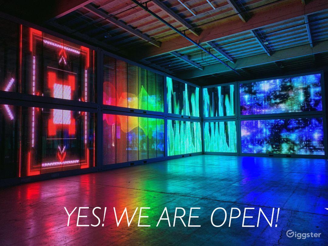 Central LA Warehouse with Multi-Media LED Glass Photo 1