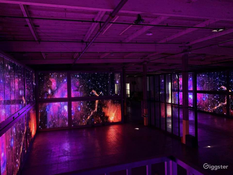 Central LA Warehouse with Multi-Media LED Glass Los Angeles Rental