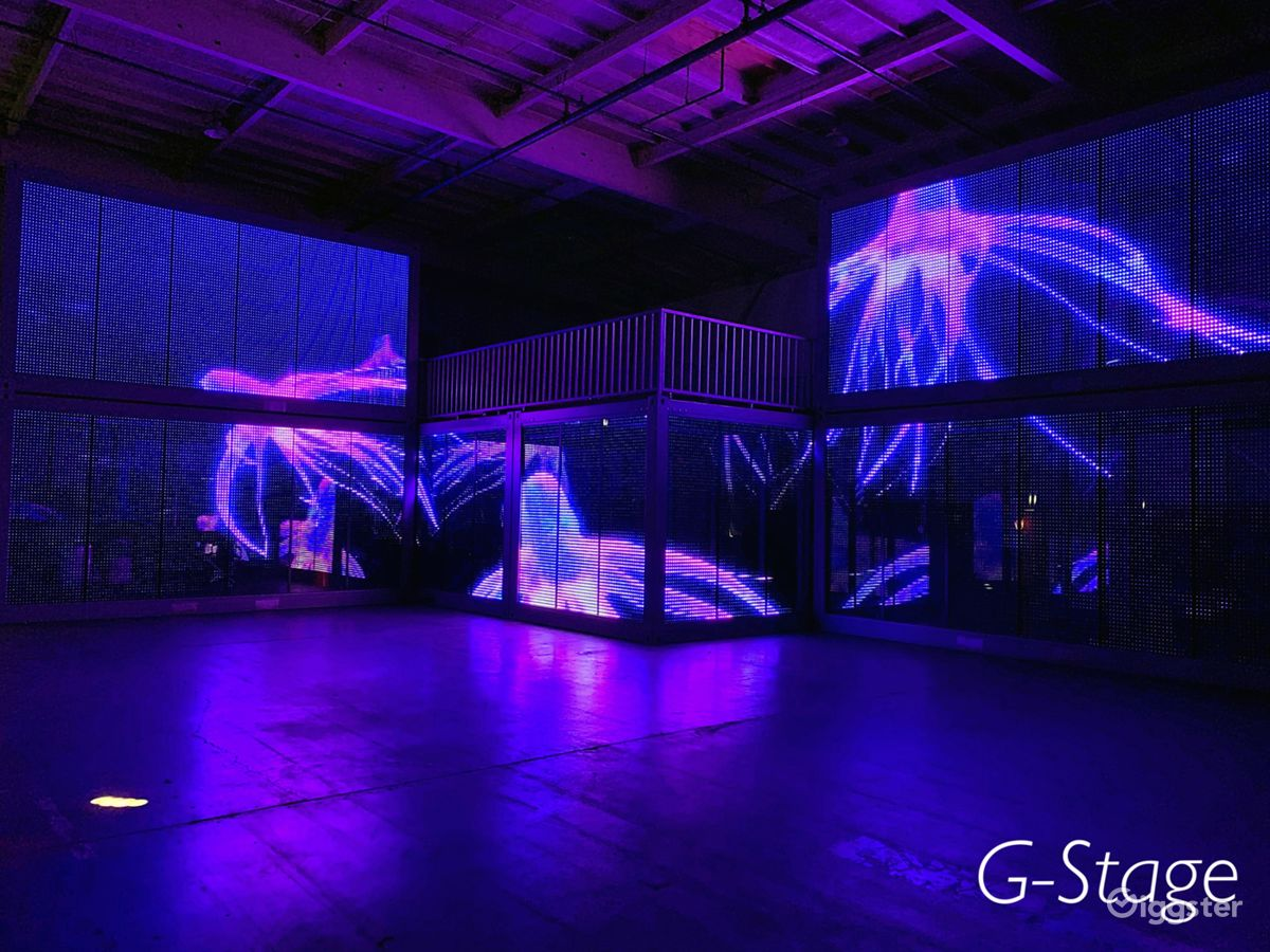 Warehouse with Multimedia LED Glass in Compton Los Angeles Rental