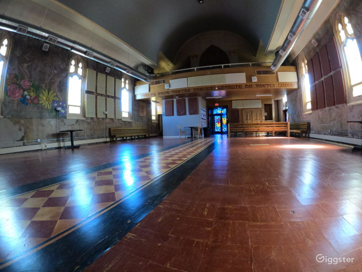 The main sanctuary space