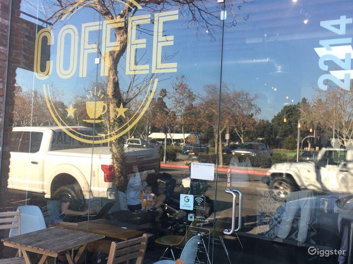 Beautiful coffee shop in Santa Monica