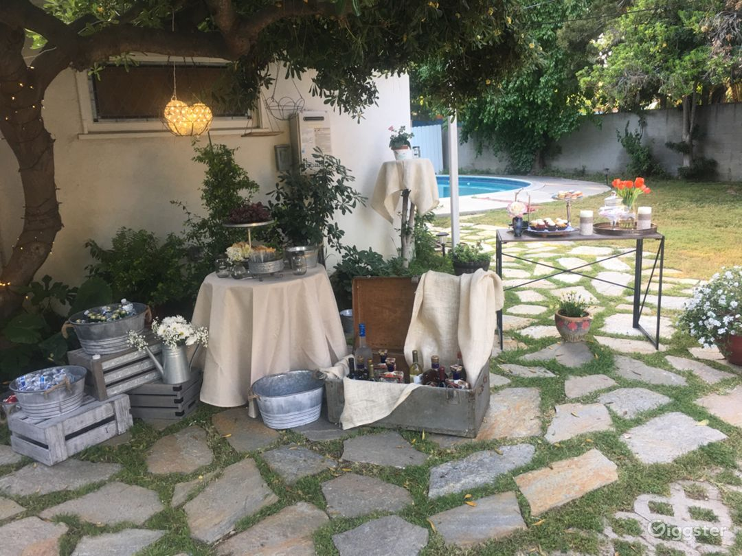 Additional fee for a Moroccan style set up in our backyard done by us!