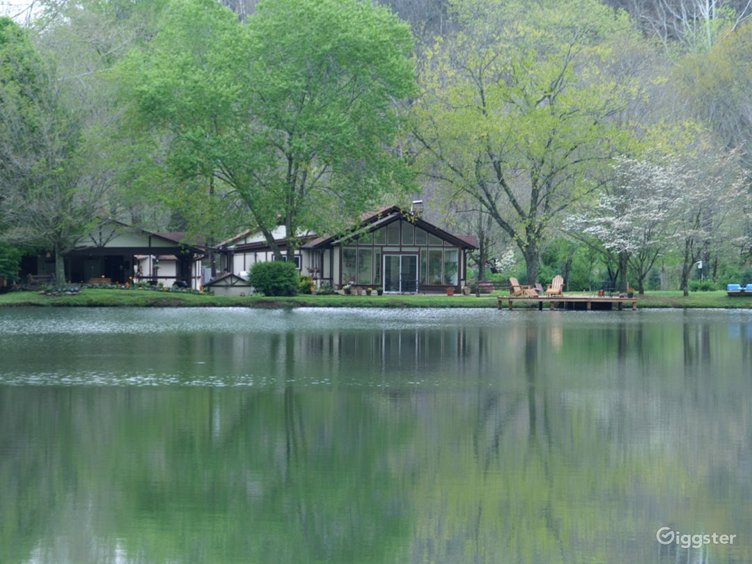 View of House and Lake