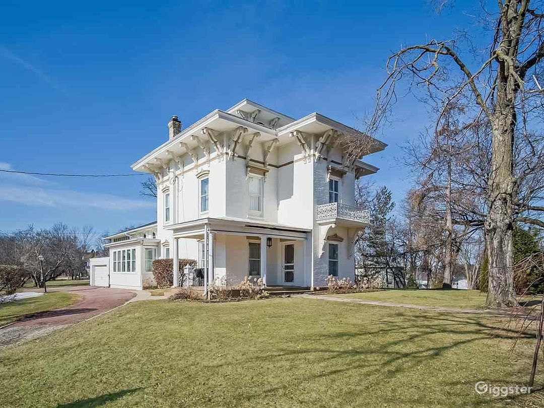 Romantic and Historical Italianate Governor Lewis Mansion