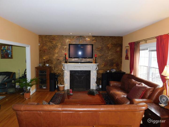 Bright sunny family room