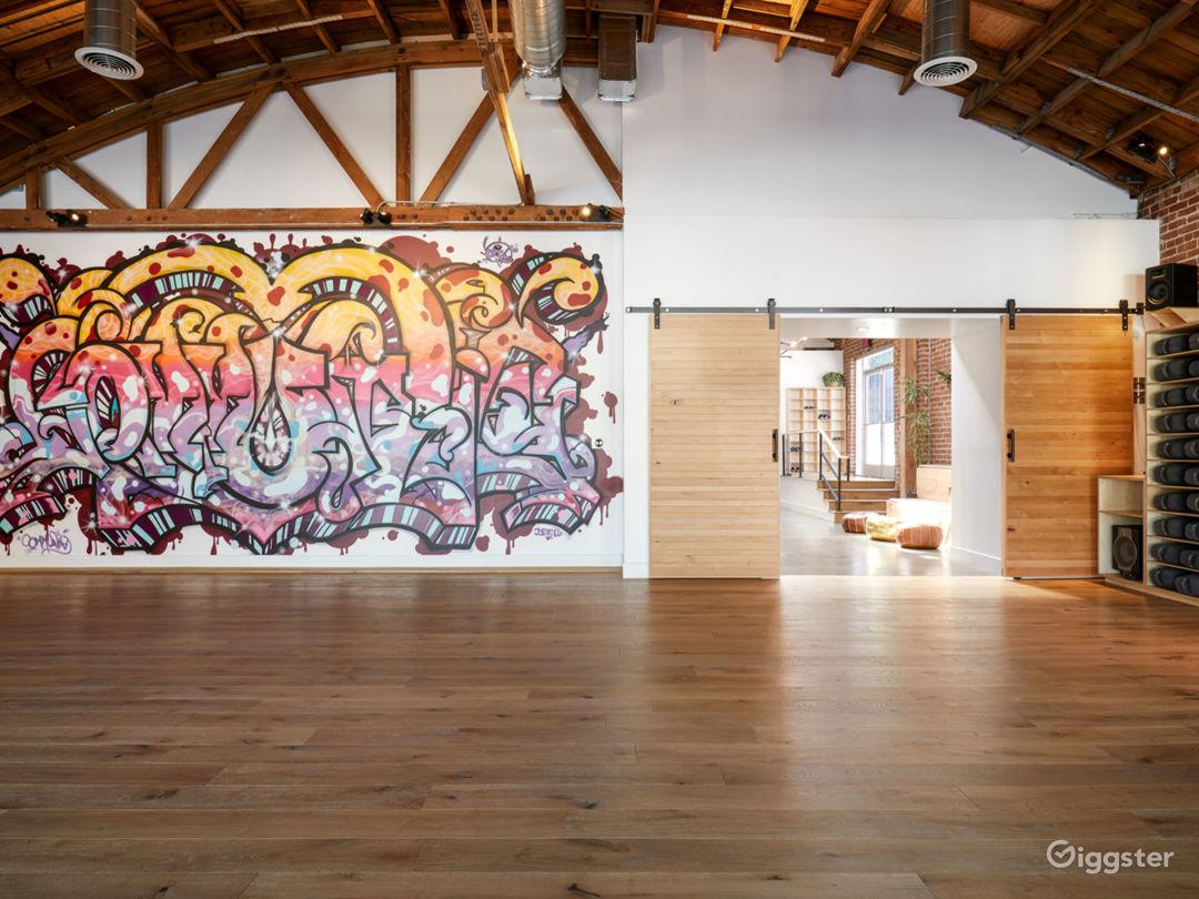 Big Dog - Larger Yoga Room mural