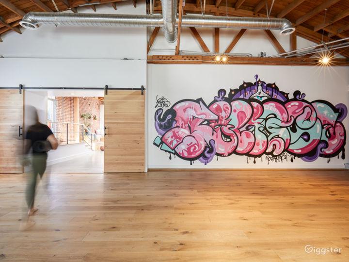 Little Dog / Smaller Yoga Room mural