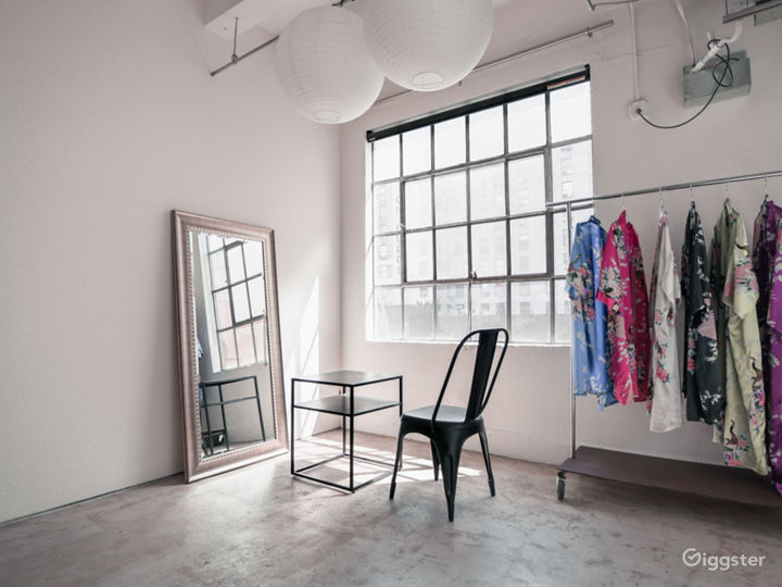 INDUSTRIAL CHIC  Bright and airy with large windows, this room has been untouched to provide a real dtla loft vibe. Our favorite feature is the fire escape. We've been told this room gets the best natural light. This room also has 6 China ball lights