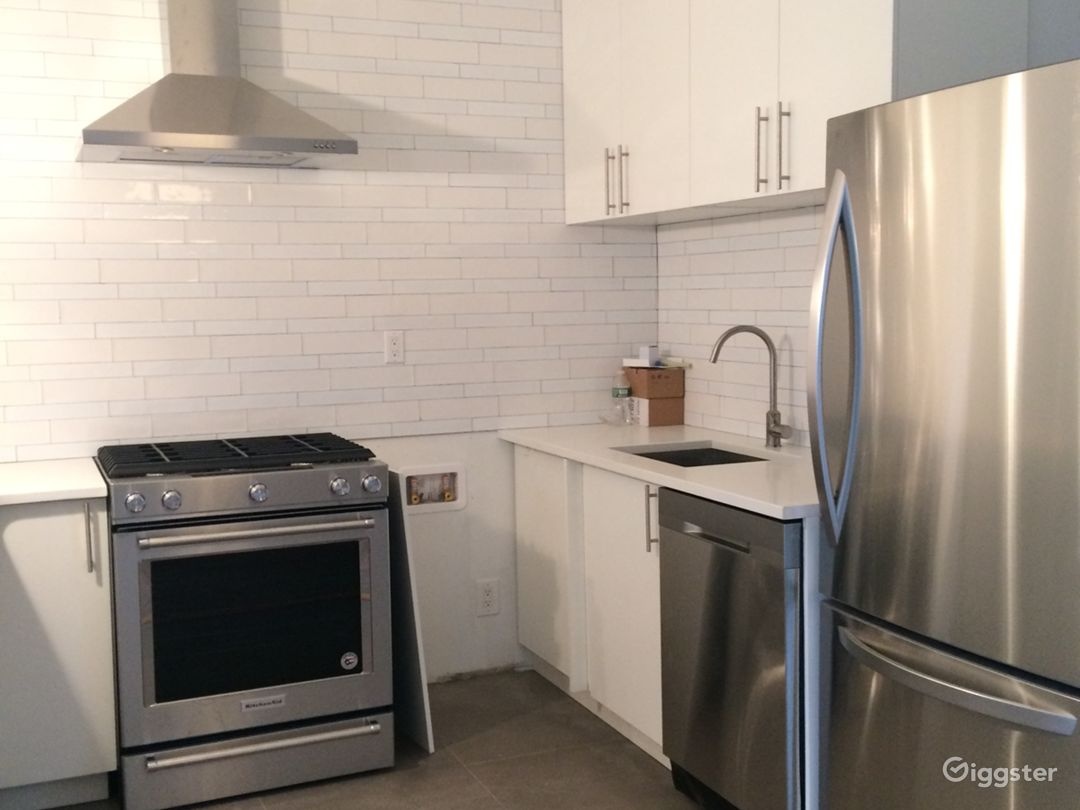 updated kitchen with subway tile