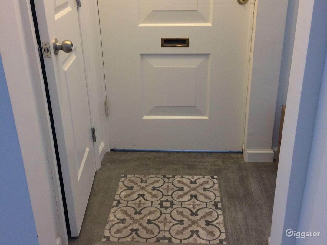 entrance with decorative tile