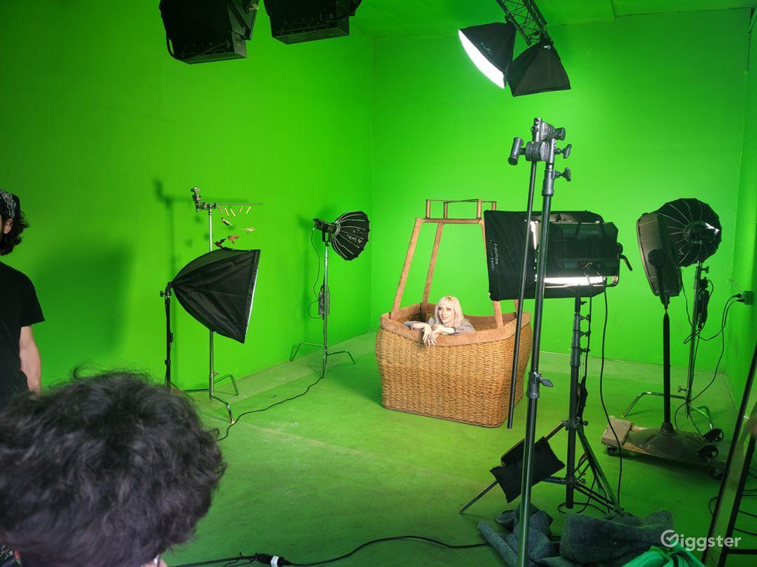 YouTube studio A green room