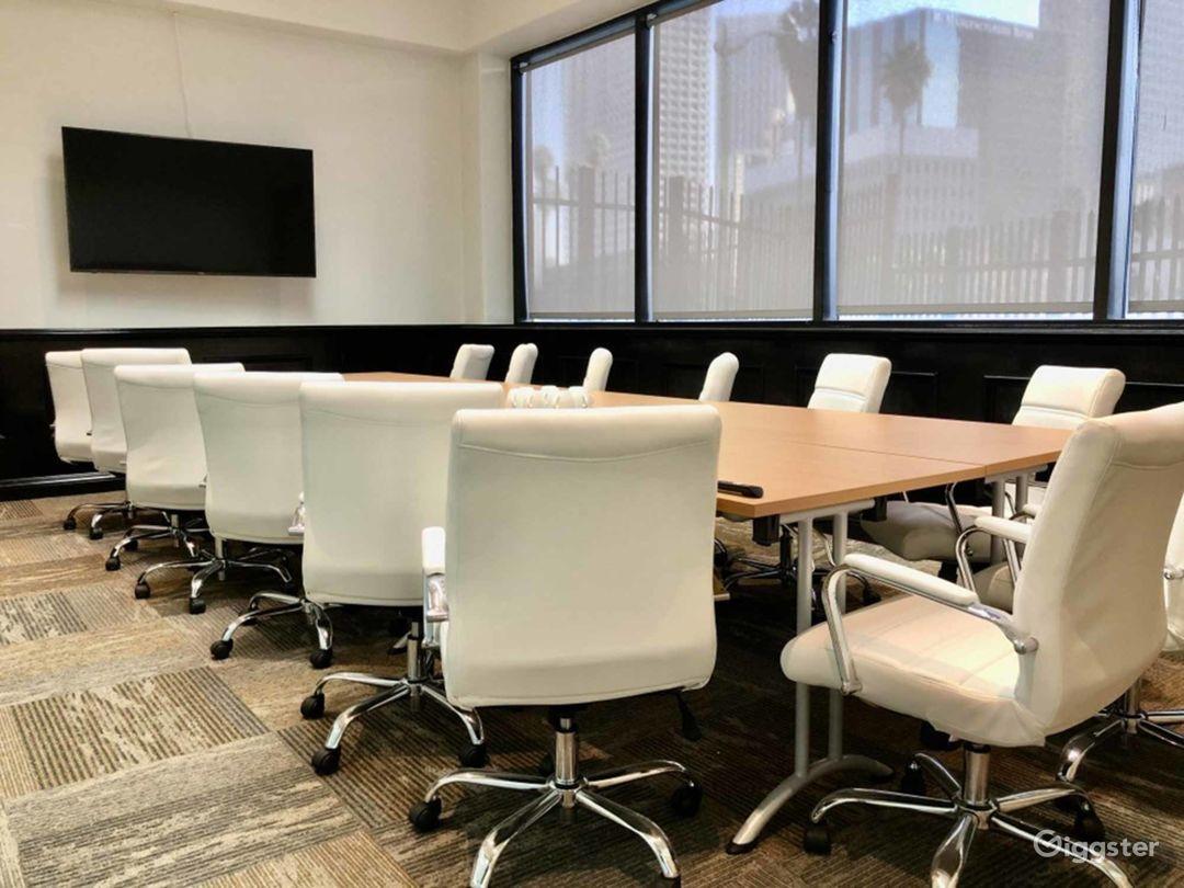 Spacious Executive Boardroom in Los Angeles Photo 1