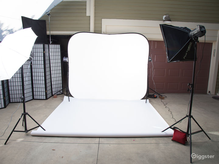 Covid19 Safe Outdoor Photography studio Front