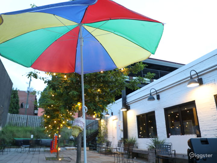 Intown Ice Cream Cafe w Courtyard & Rooftop Patio