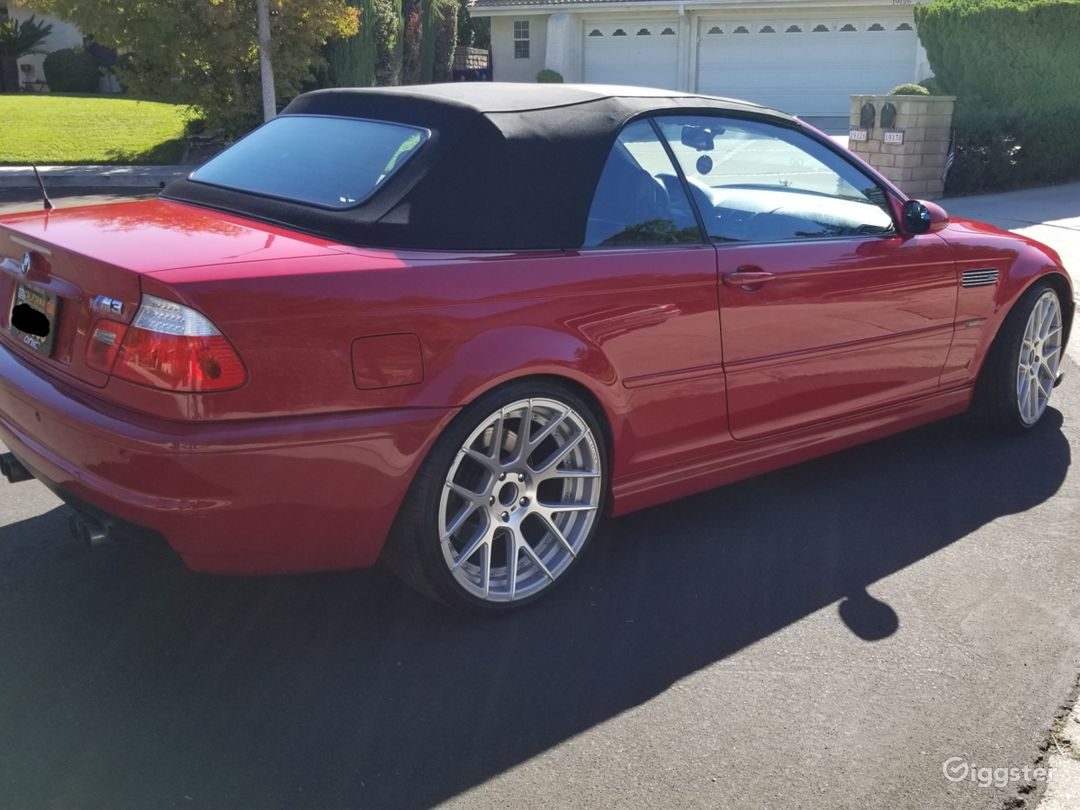 2004 BMW M3 RED CONVERTIBLE Photo 4