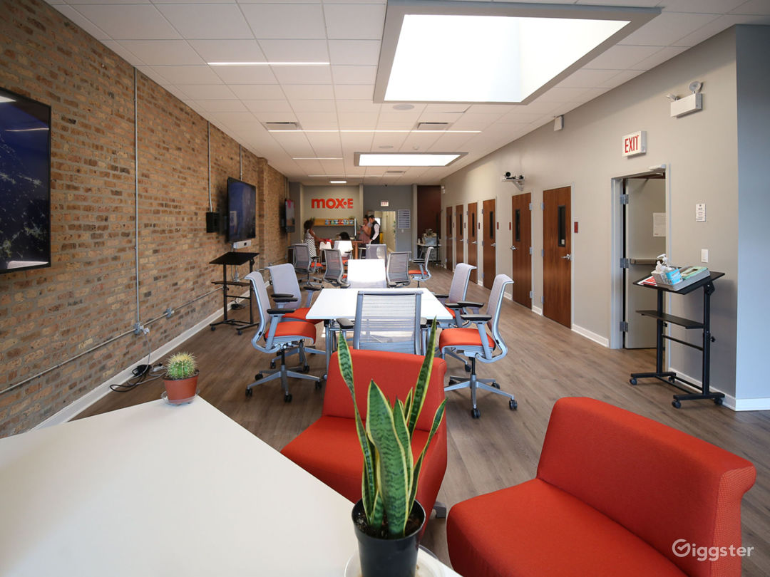 Event space in coworking area