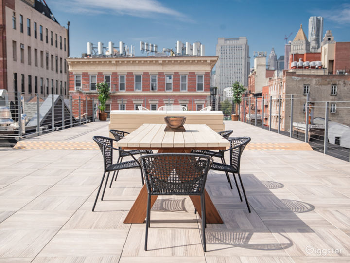 Nolita,Rooftop with Amazing Manhattan Skyline View