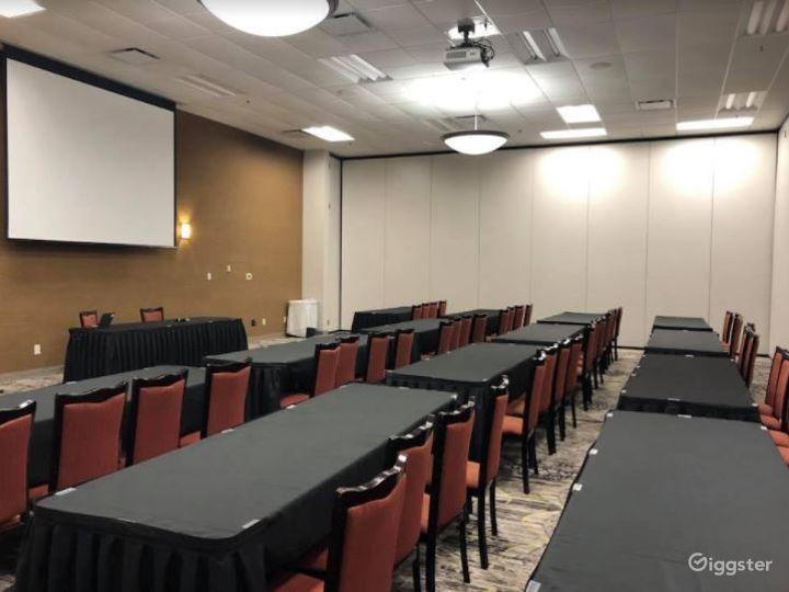 Indoor Modern Meeting Room with Projector   Photo 5