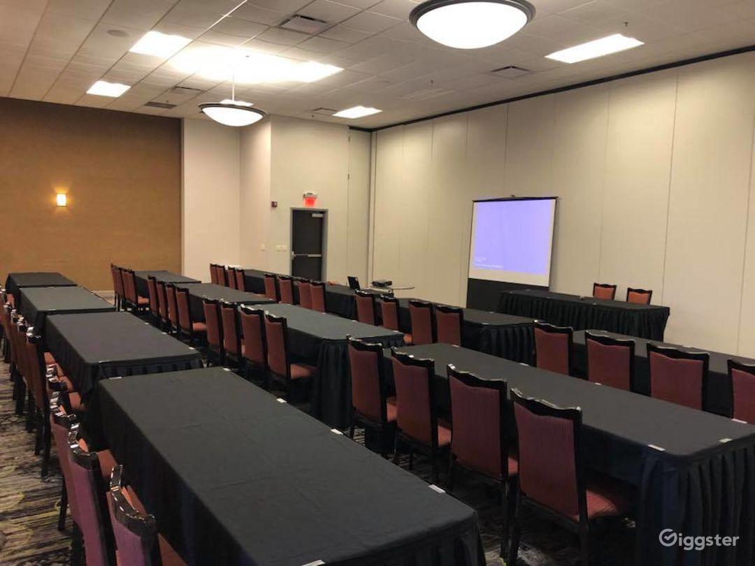 Indoor Modern Meeting Room with Projector   Photo 1
