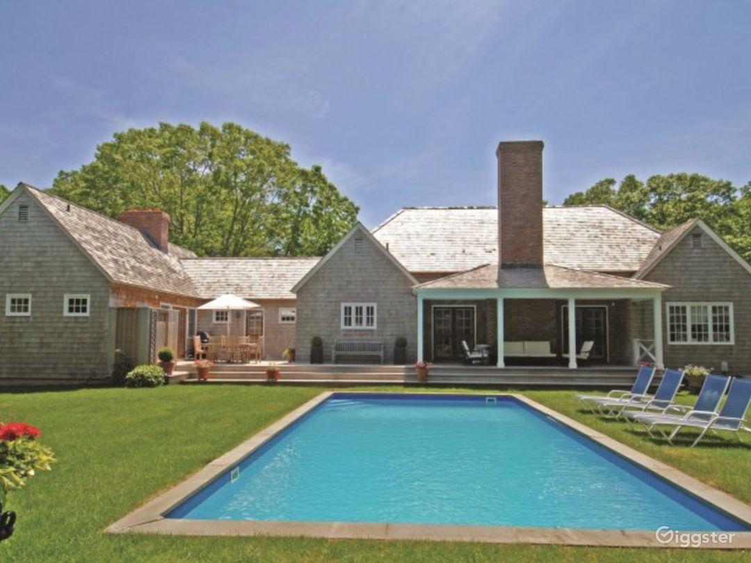Exterior backyard and pool