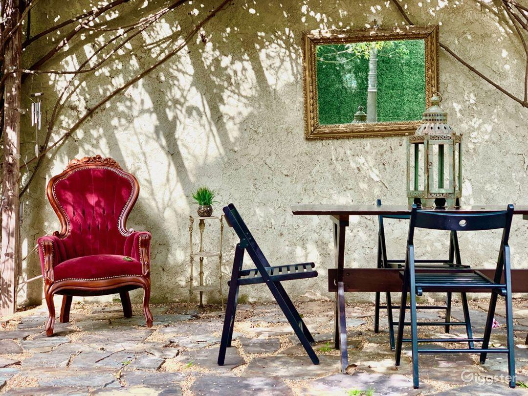 Enchanting Garden with Wisteria-Draped Pergola  Photo 4