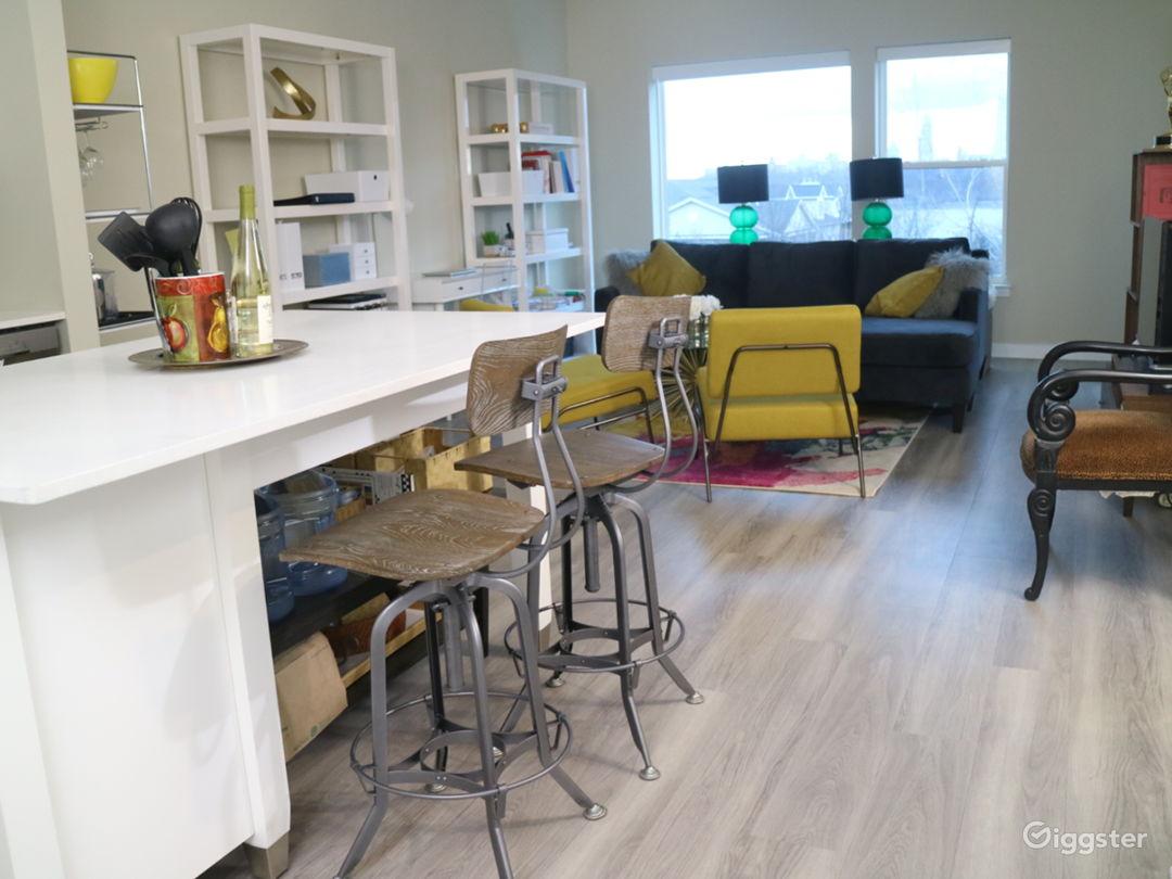 Open kitchen living floor plan