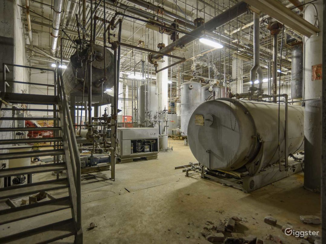 Amazing Industrial Boiler Room Photo 2