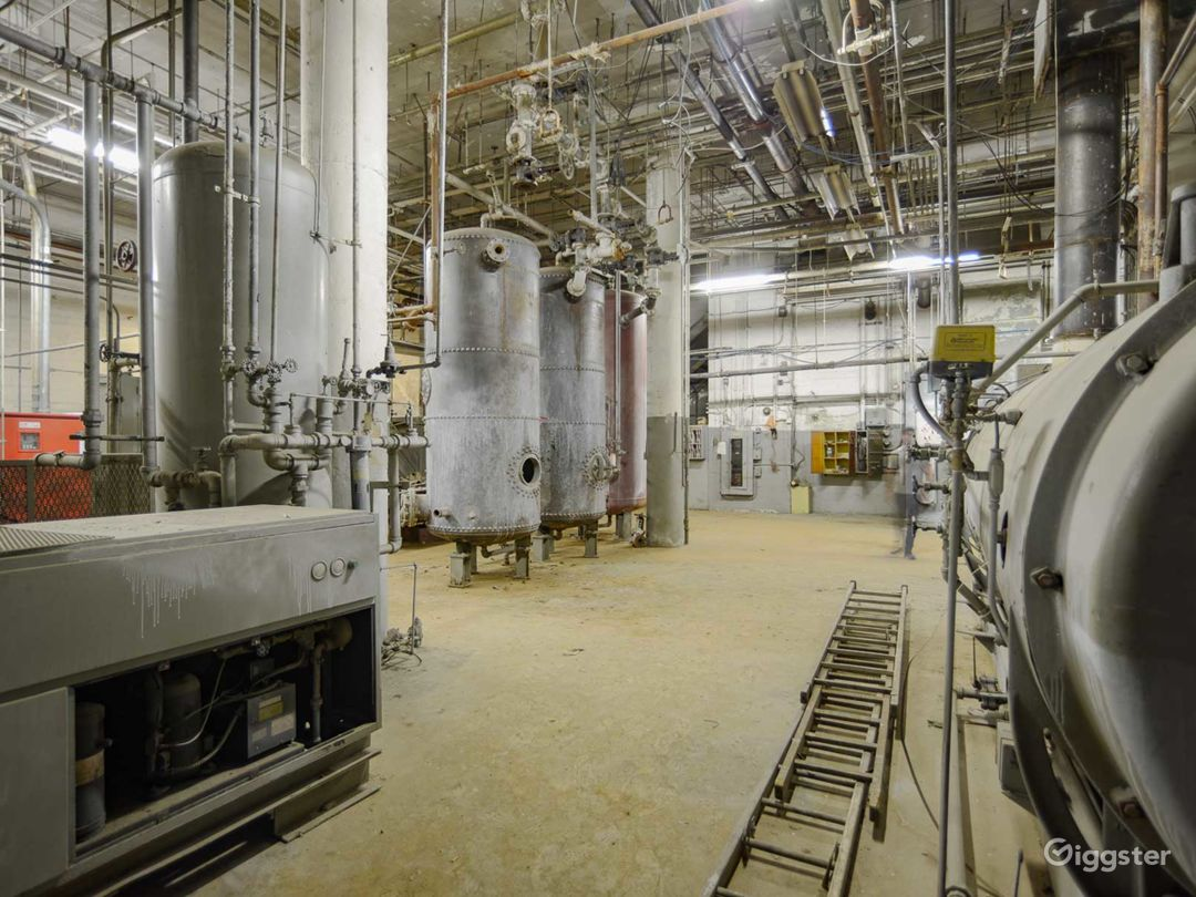 Amazing Industrial Boiler Room Photo 3