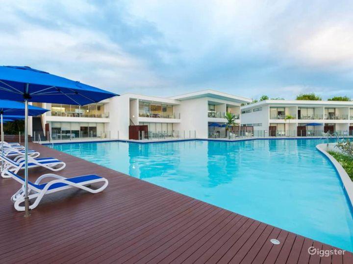 huge communal pool