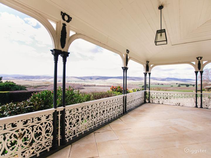 Wrap around Verandah with views to the mountains