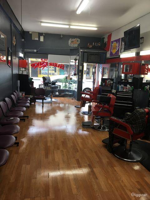 Old school/new school modern barbershop