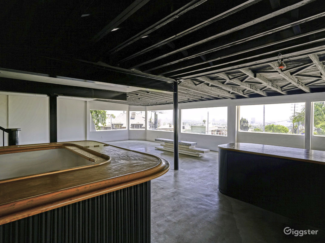 Large Bar  Amazing Panoramic views overlooking Sunset Blvd and the city Outdoor deck with views  Private parking that has 25 spots and can fit more with valet service (Also very large valet parking lot below for event overflow)  Ramp accessible for easy lo