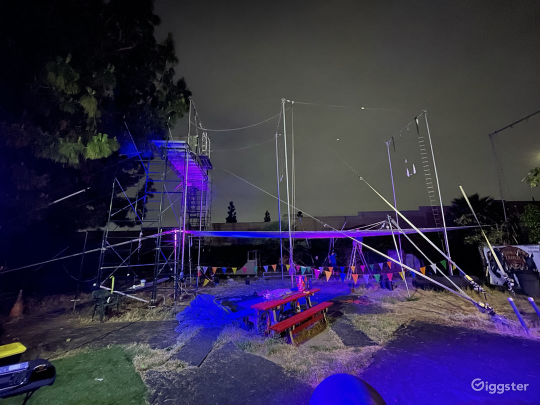Bring in your own lighting to give your event a fun vibe.