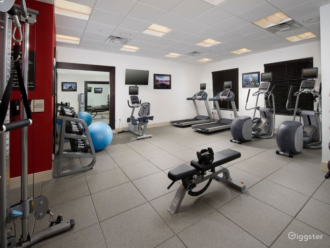 A Modern Gym with Equipment in Miami Photo 1
