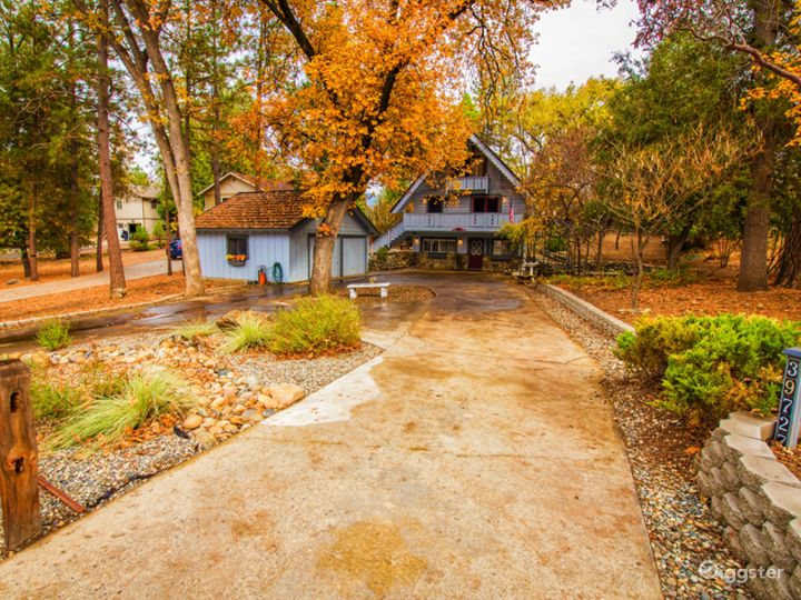 4 seasons and low elevation with long driveway for extra parking.