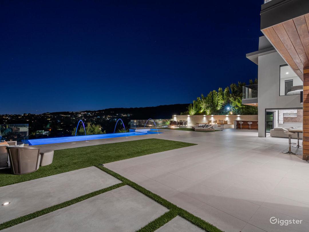 Backyard View with Pool