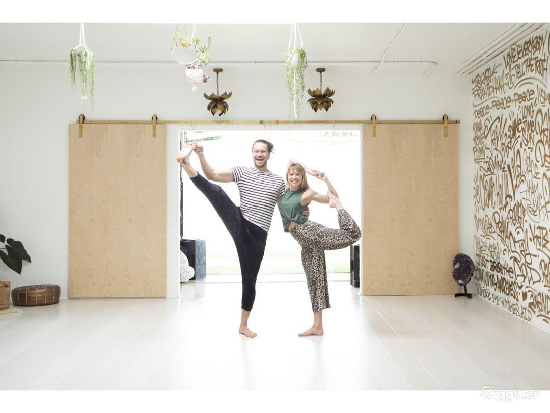 View into the yoga studio
