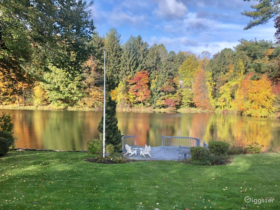 Back yard in fall