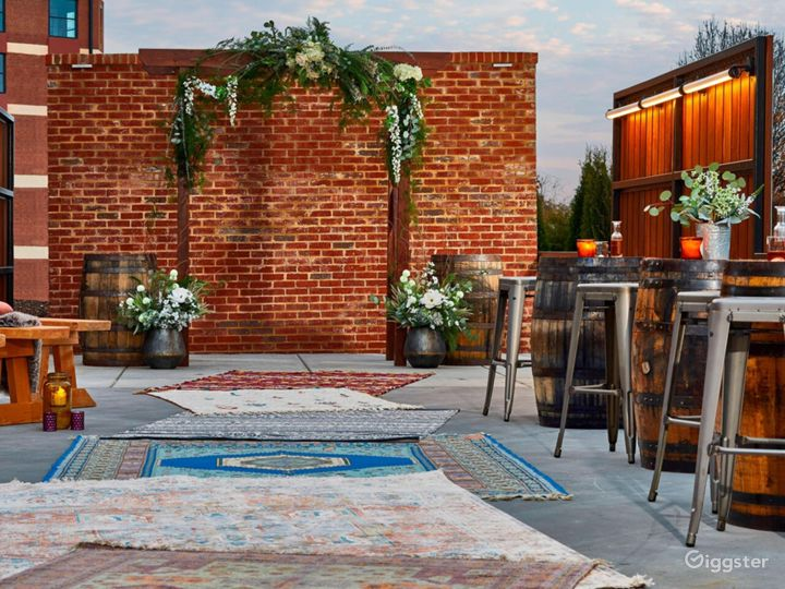 Close up of the ceremony space. (Arbor not included)