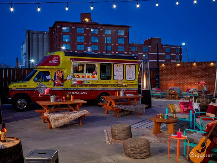 The Railyard set for a casual event