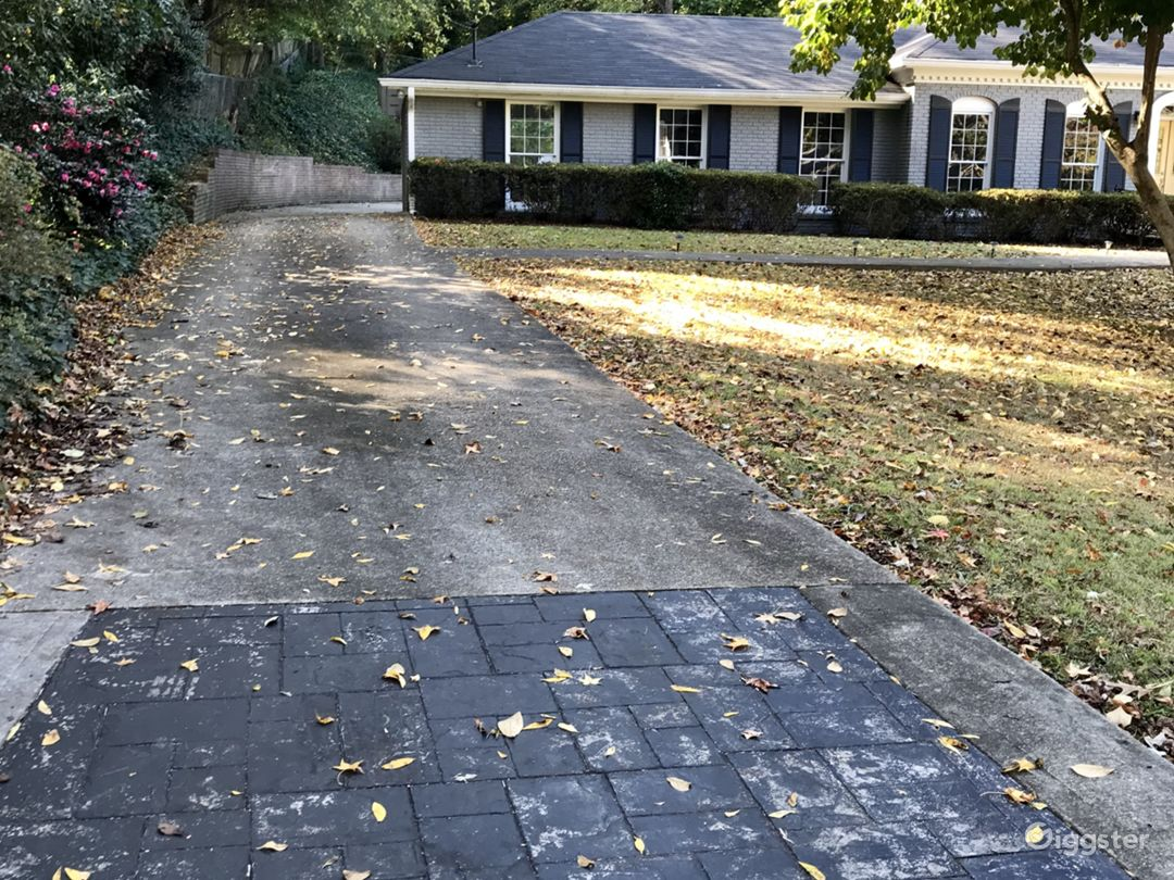 Side of house with long driveway
