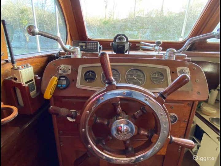 The wheel and panel are all original.