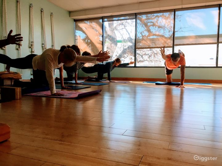Naturally Lit Yoga Studio with Bamboo Floors in Agoura Hills Photo 4