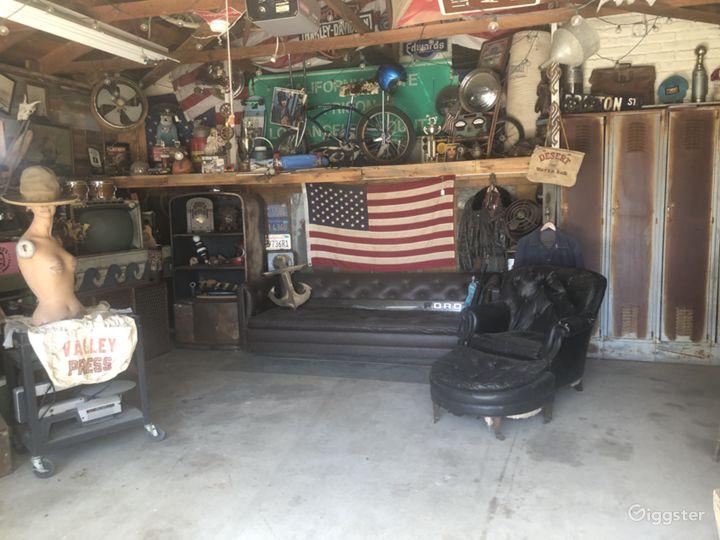 Eclectic/industrial garage