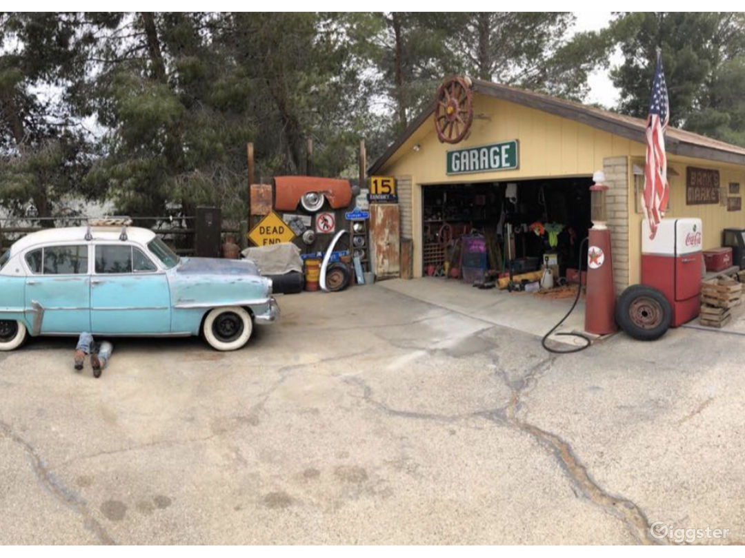Detached garage with vintage service station feel...