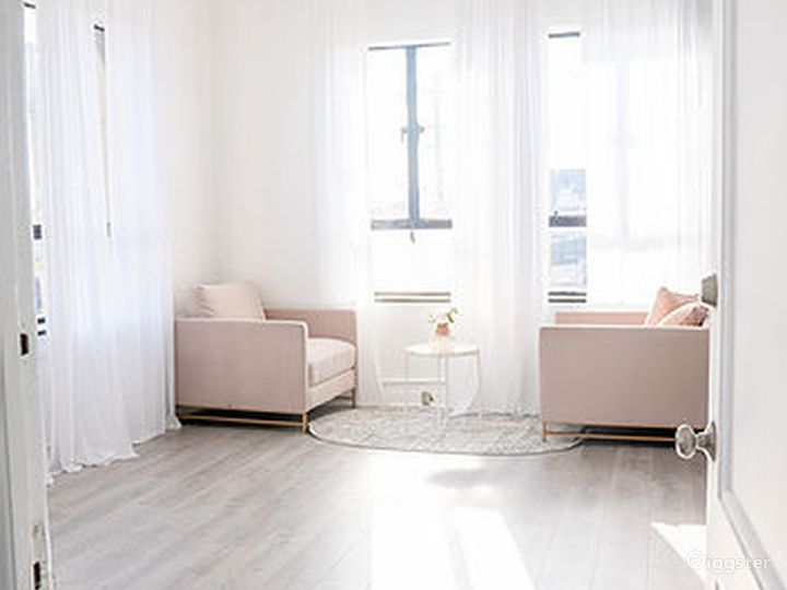 White and Salmon Interview Room