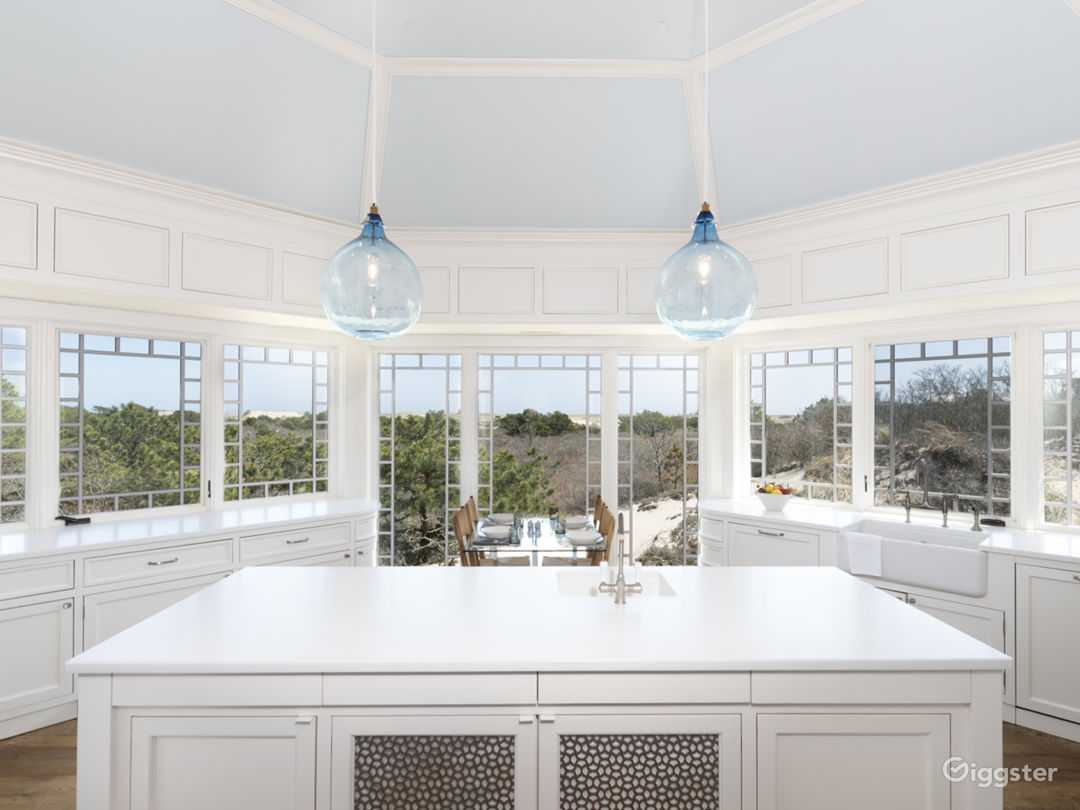 Kitchen with dunes views