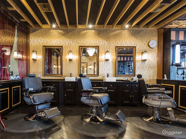 Second view of main area of barbershop