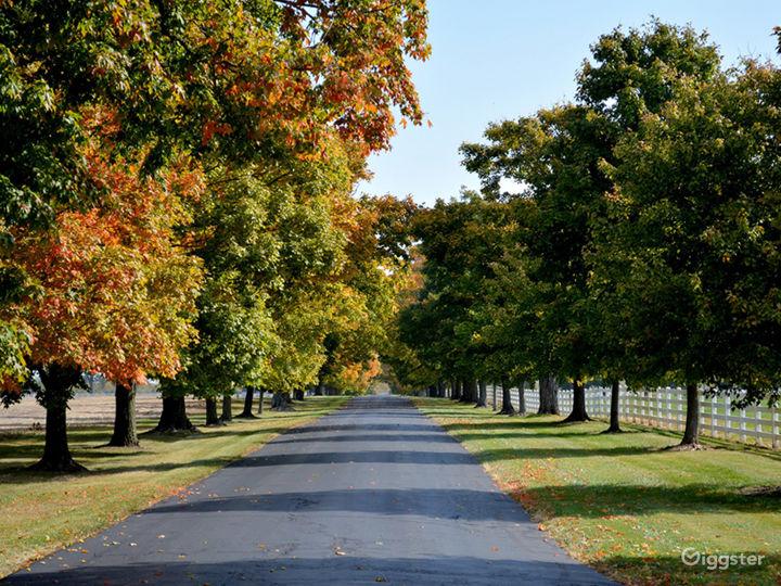 Main lane in early fall